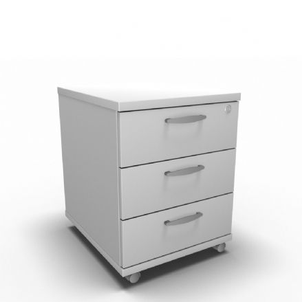 Simply Three Drawer Low Mobile Pedestal